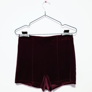 ♡ 3 for $15 ♡ // Burgundy Velvet Shorts